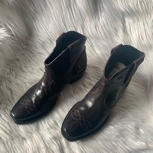 Shoes - NWOT Leather Western Ankle Boots